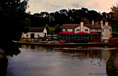 Dusk at the Foxton Locks Inn
