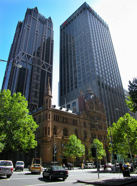 Multistory buildings in Melbourne downtown