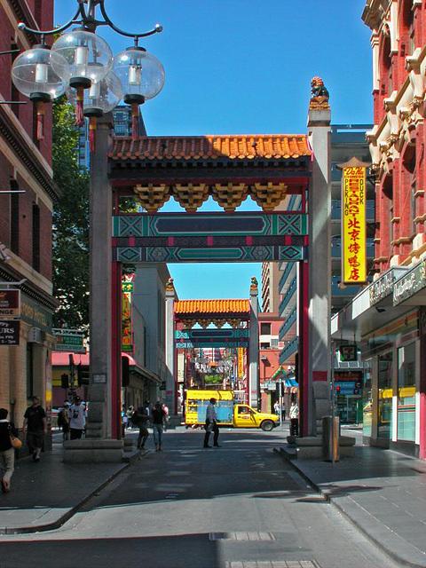 Door to China town