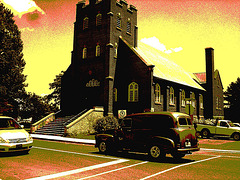 Voiture Lambton / Lambton vehicle - Ormstown, Qc. CANADA - 13 juin 2010 - Sepia postérisé