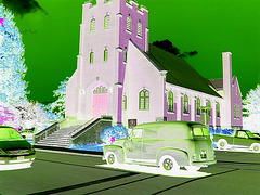 Voiture Lambton / Lambton vehicle - Ormstown, Qc. CANADA - 13 juin 2010- Négatif RVB