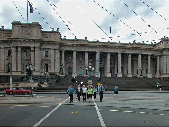Parliament house in Melbourne