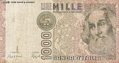 billets de banque ITALIE 1000 Lires