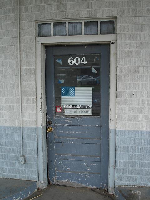 God bless America door / Porte bénite à l'américaine - Farmerville, Louisiana. USA - 7 juillet 2010