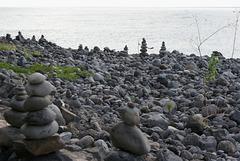 Steinmännchen (Schtoamanderl) am Strand mit Fernweh...? ©UdoSm