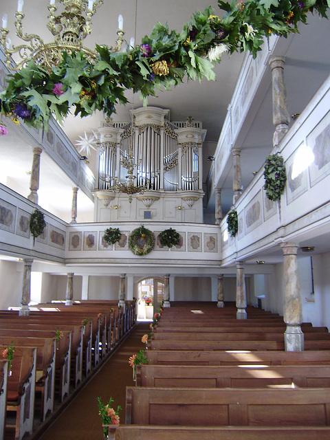 Kirche in Niederbobritzsch am 3.10.2010
