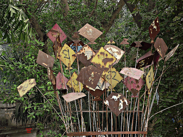 Rusting sculpture