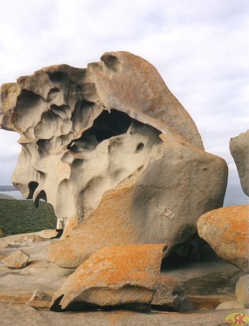 1997-07-23 069 Aŭstralio, Kangaroo Island, Remarkable Rocks