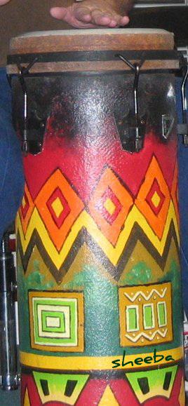 Colorful tubano..