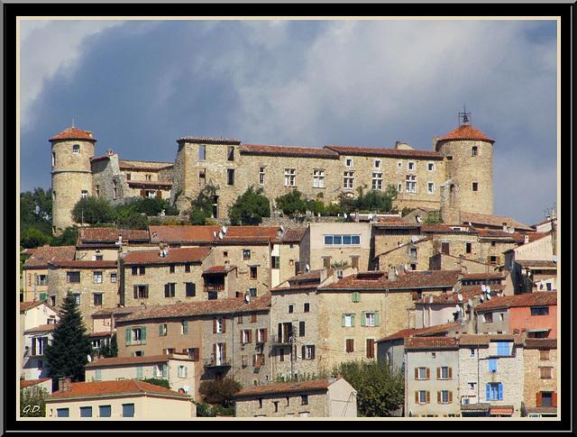 Callian   Le Chateau vu du Sud Ouest
