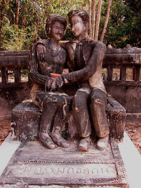 Twosome as a sculpture in Sala Keoku park
