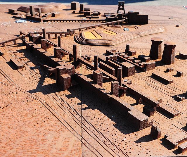 Stahl.Modell der Zeche Zollverein