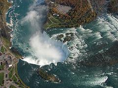 chutes du Niagara vues d'hélicoptère