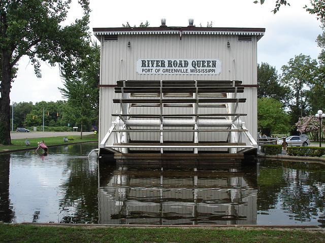 River road Queen /  Port of Greenville, Mississippi. USA - 8 juillet 2010.