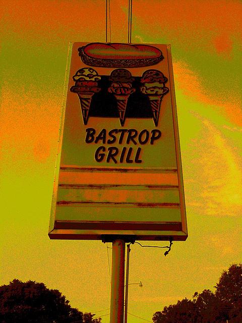 Bastrup grill / Bastrop - Louisiane. USA /  08-07-2010 - Sepia postérisé.