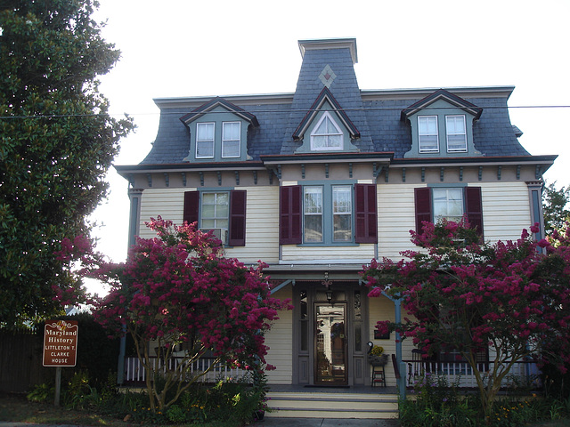 Maryland history Littleton T. Clarke house /  Pocomoke, MD. USA - 18 juillet 2010. Photo originale