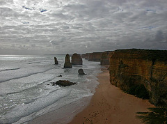 The stacks of the Twelve Apostles