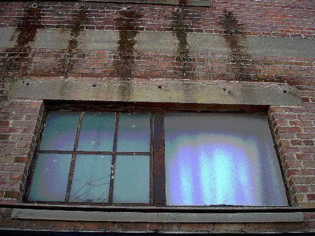 Antique market window / Fenêtre du marché d'antiquités - Bastrop, Louisiana. USA - 8 juillet 2010 - - Peinture à l'huile postérisée