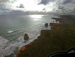The rocks seen out the chopper screen