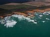 The Twelve Apostles coast an aerial photo