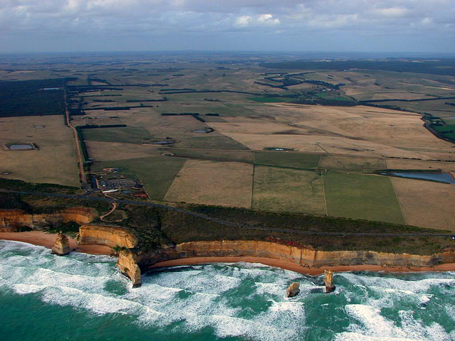 The coastline and The Twelve Apostles