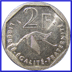 2 Francs Commémorative 1997 Revers