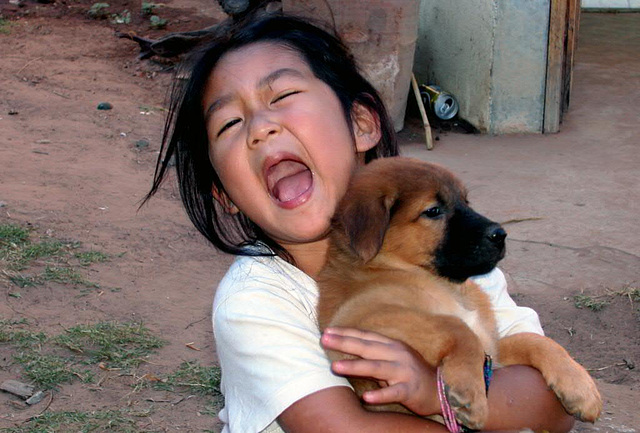Bua with her puppy