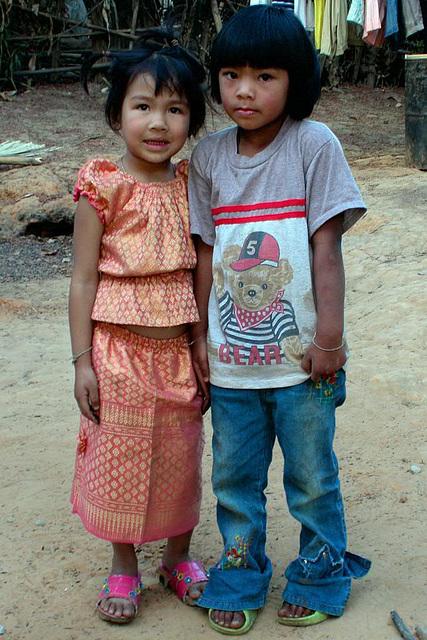 Children in Baan Koog, Na Haew