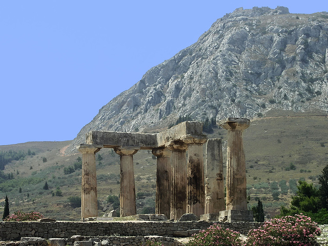 PICT18955ac Old Corinth Archaeological Site Apollo's Temple Ruins 6th-century BC