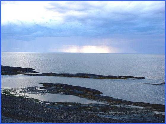 Coucher de soleil- Sunset - Pointe-au-père- Qc, Canada /  23 juillet 2005.