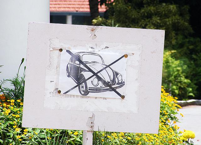 Käfer verboten!