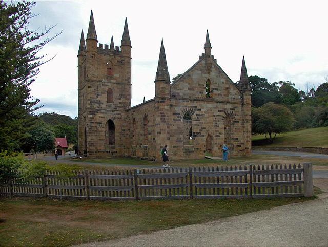 Convict-built church at Port Arthur