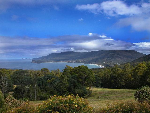 Panorama vista to Taranna bay