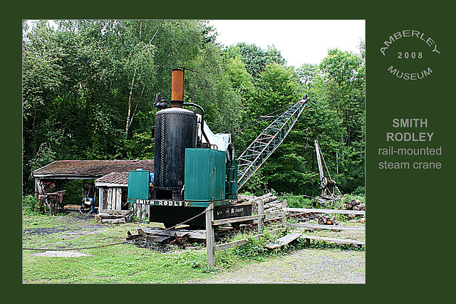 Smith Rodley steam crane - Amberley Museum - 11.8.2008