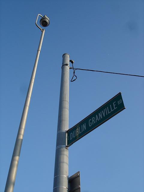 Dublin Granville road intersection / Columbus, Ohio. USA - 25 juin 2010
