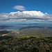 Panorama view from the Mount Wellington