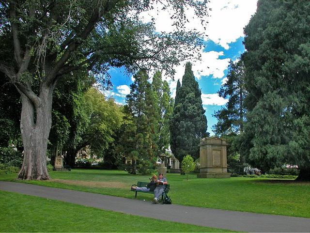 In the St Davids Park in Hobart