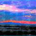 Coucher de soleil / Sunset - St-Jean Port-Joli . Qc. Canada - 21 juillet 2005   / Double aquarelle postérisée