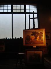 paisagem dentro do atelier