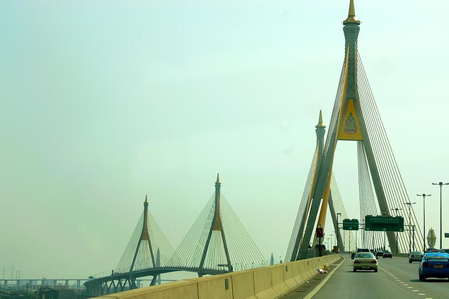 Industry Ring Suspending bridge in Bangkok