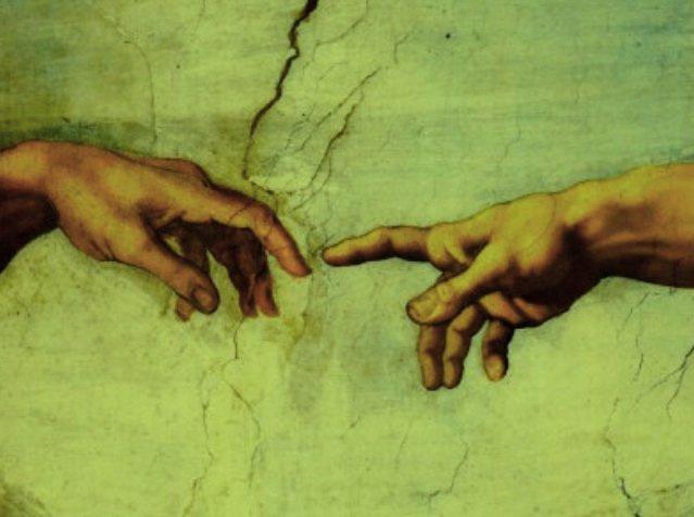 Creation of Adam, detail