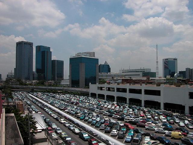 Parking-lot at Mo Chit Bangkok