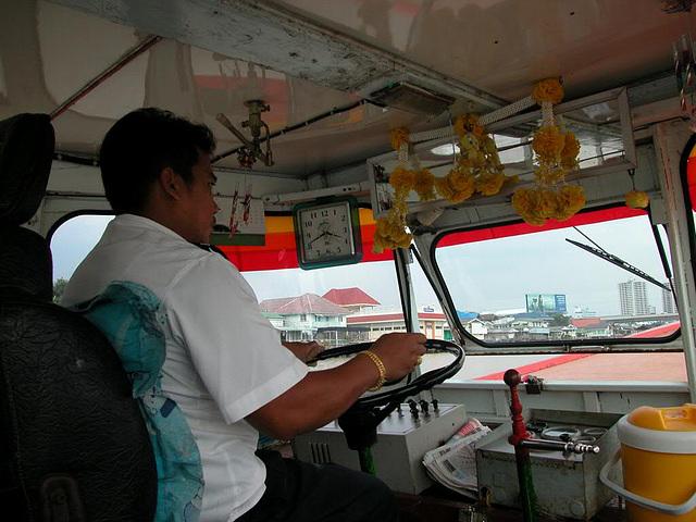 Express boat skipper on the Chao Phraya river