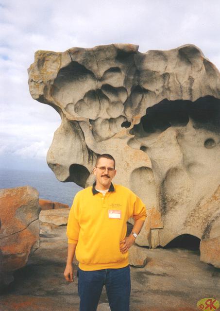 1997-07-23 081 Aŭstralio, Kangaroo Island, Remarkable Rocks