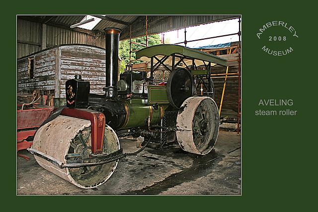 Aveling Steam-roller - Amberley Museum - 11.8.2008