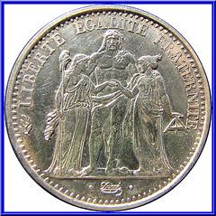 10 Francs Hercule 1965 Avers