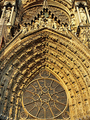 P9264178ac Reims Cathedral West Facade Central Porch Tympanum Larger View