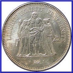 50 Francs Hercule 1979 Avers