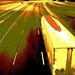 Autoroute texane /  Texan highway - Hillsboro, Texas. USA - 27 juin 2010. - Sepia postérisé