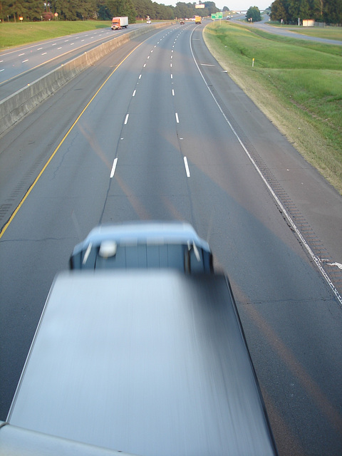 Autoroute texane /  Texan highway - Hillsboro, Texas. USA - 27 juin 2010.